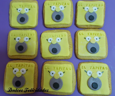 Galletas Homer Simpson fondant
