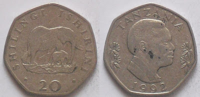 tanzania 20 shilingi 1992