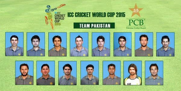 Pakistan announces squad for World Cup 2015