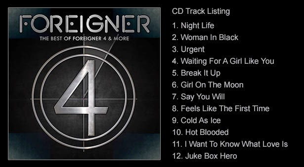 Classic Rock Radio: Foreigner release 'The Best Of
