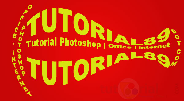 Cara membuat tulisan berpola di photoshop