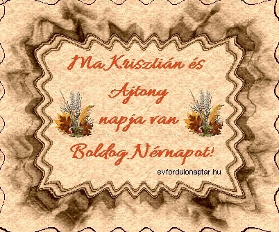 Március 13 - Krisztián névnap