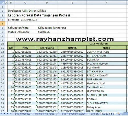 excel SKTP 2013