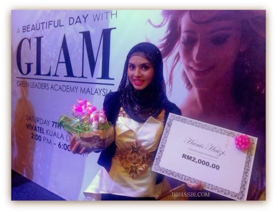 Adibah Karimah memenangi cabutan bertuah dlm A Beautiful Day with GLAM