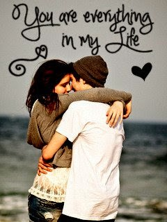 you are everything in my life love couple mobile