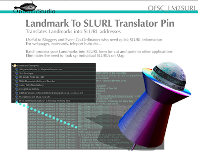 Landmark to SLURL Translator Pin Graphic