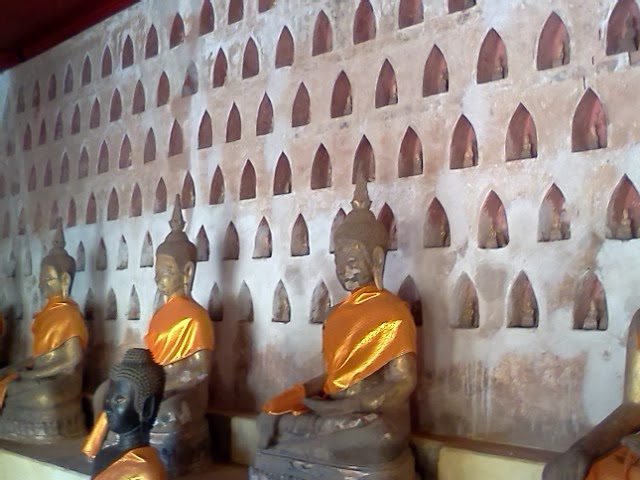 Some of the thousands of Buddha images in the cloister around Wat Si Saket, Vientiane, Laos