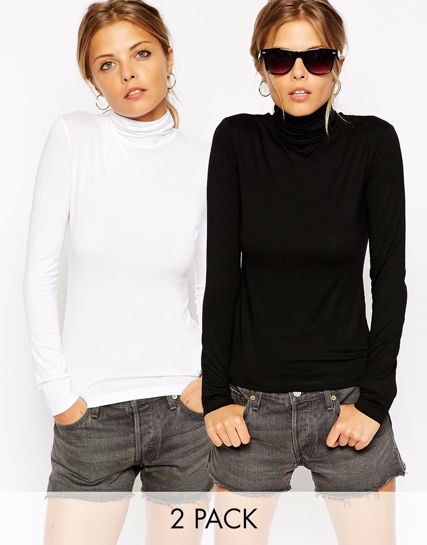white and black turtle neck top, turtle neck pack,