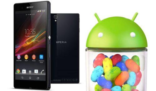 Il nuovo Phablet Android Xperia Z di Sony sarà aggiornato alla versione 4.2 Jelly Bean subito dopo il suo lancio nei mercati
