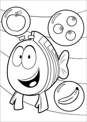 Bubble Guppies Printable Coloring Pages