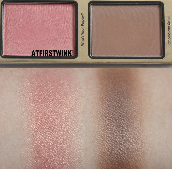 Too Faced La Belle Carousel - Who's Your Poppy ? and Chocolate Soleil swatches