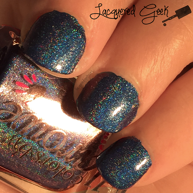 Colors by Llarowe That Bloo is Mine! nail polish swatch by Lacquered Geek