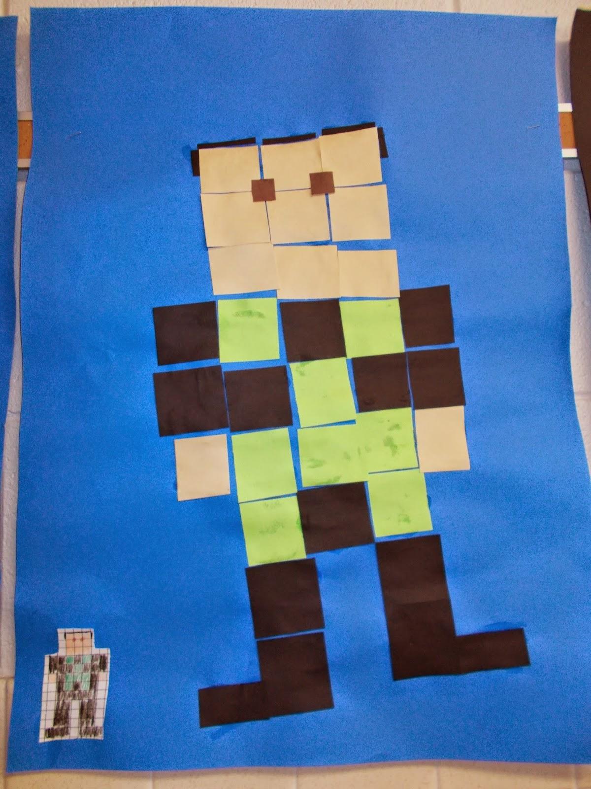 Mrs. Pierce's Polka Dot Spot: Pixel Self Portraits