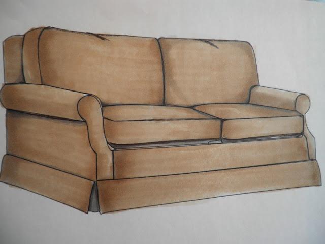 Tiffany Leigh Interior Design Wednesday Sketchbook How Colour Sofa