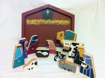 wooden nativity puzzle handmade Christmas gift by grumpaandme