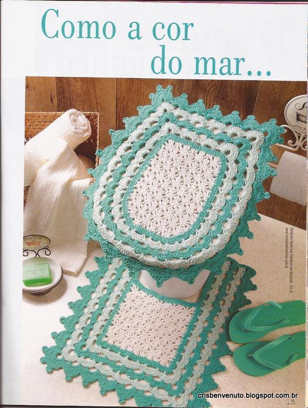 Cris Benvenuto Jogo de Banheiro Degrade -> Jogo De Banheiro Simples Em Croche