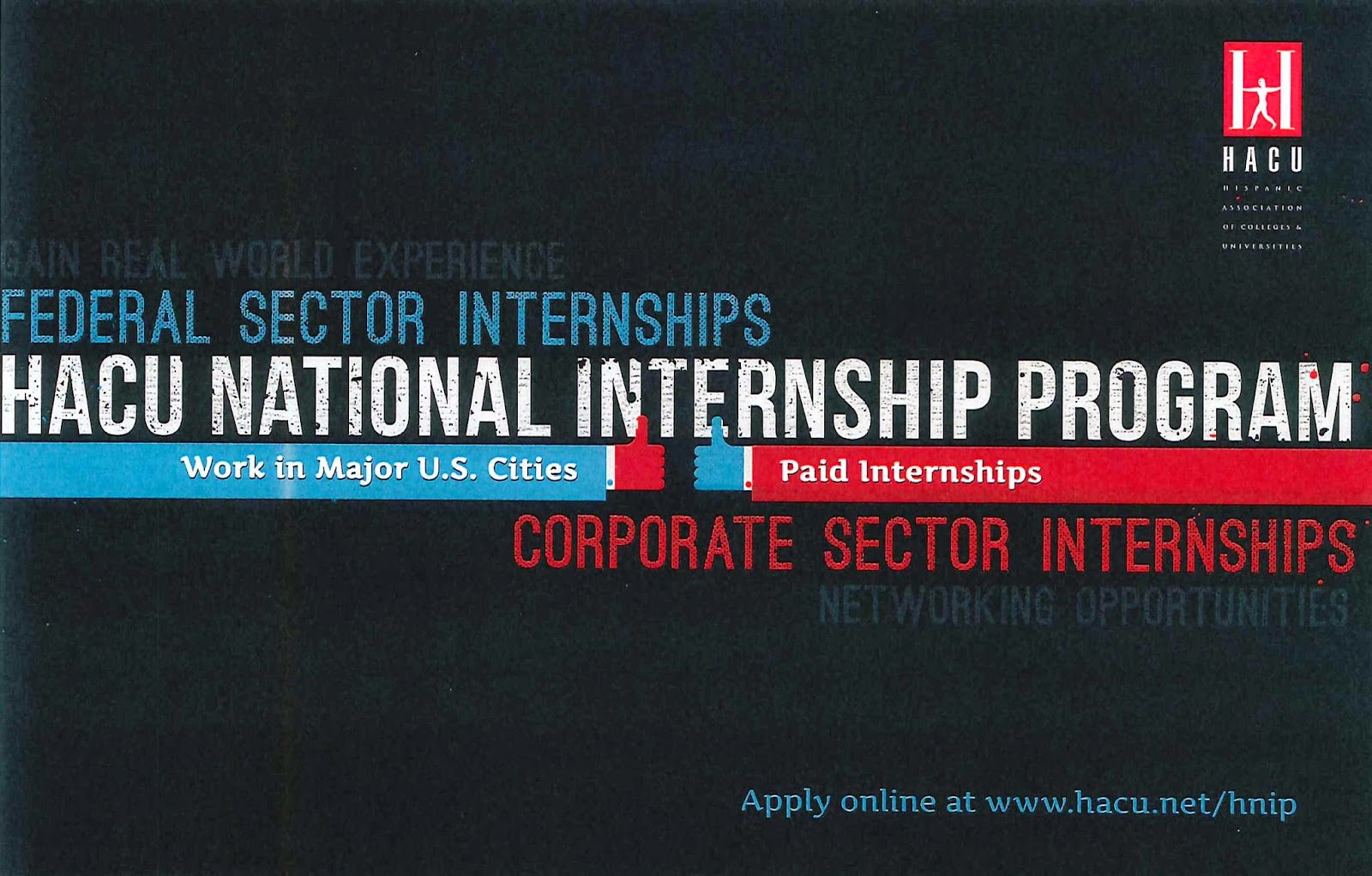 an opportunity for internship program at the hispanic association of colleges and universities hacu Hnip program manager at hispanic association of colleges and universities (hacu)  here's an opportunity to.