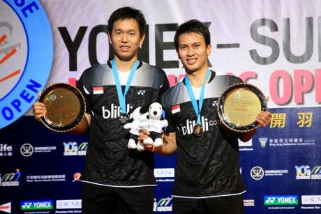 Mohammad Ahsan/Hendra Setiawan Juara Hong Kong Open Super Series 2014