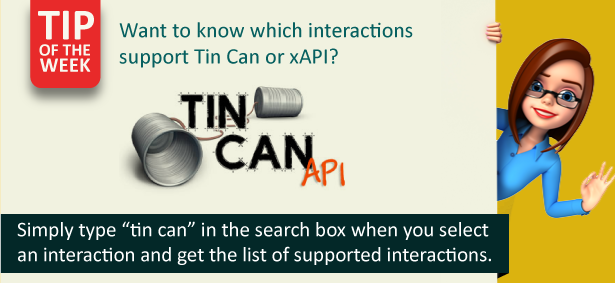 Want to know which interactions support Tin Can or xAPI?