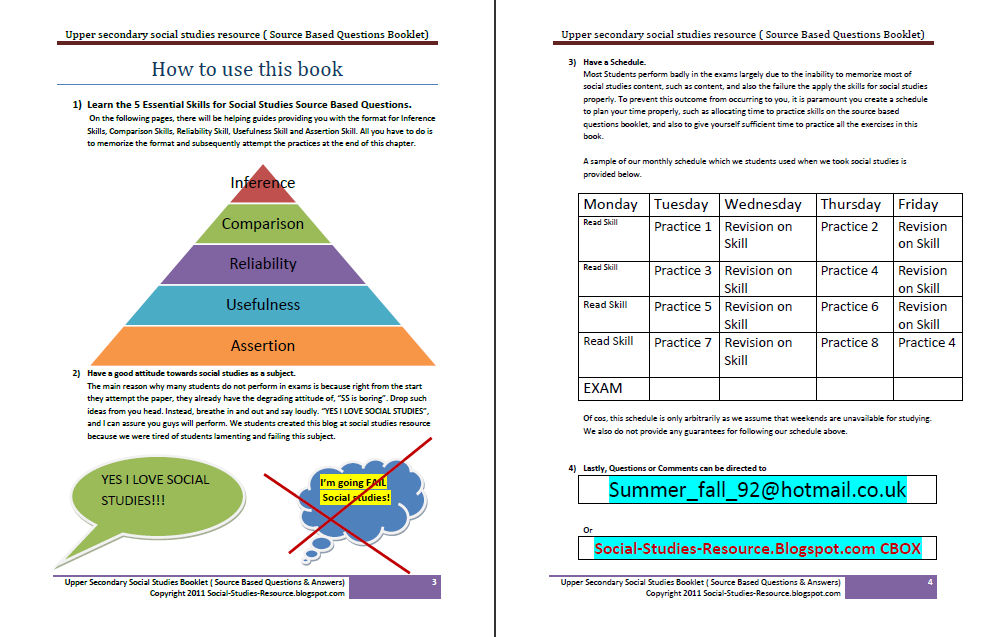 secondary 3 social studies essay