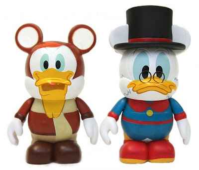 Ducktales Disney Afternoon Vinylmation 2-Pack - Launchpad McQuack &amp; Scrooge McDuck Vinyl Figures