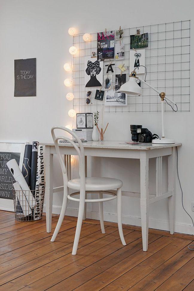 Powr t do szko y 12 pomys w na tablic nad biurkiem conchita home - Board deco kamer ...