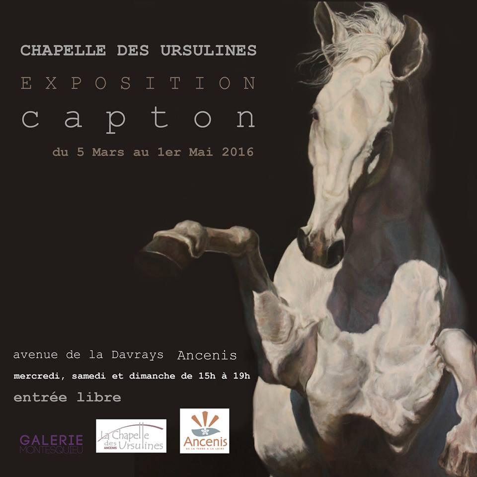 ANCENIS : CAPTON, INVITÉ PAR LA VILLE D'ANCENIS, EXPOSE À LA CHAPELLE DES URSULINES