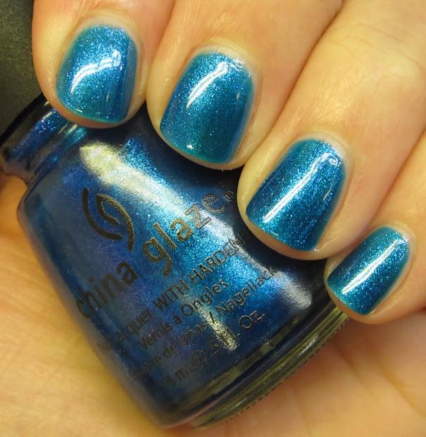 china glaze short nail art design