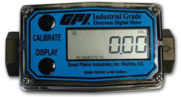 Digital Flow Meter : Forberg scientific inc gpi flow meter lcd display explained