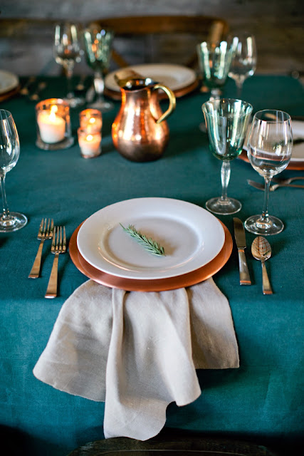 Fall Wedding Table Setting