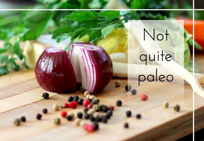 My not quite paleo diet