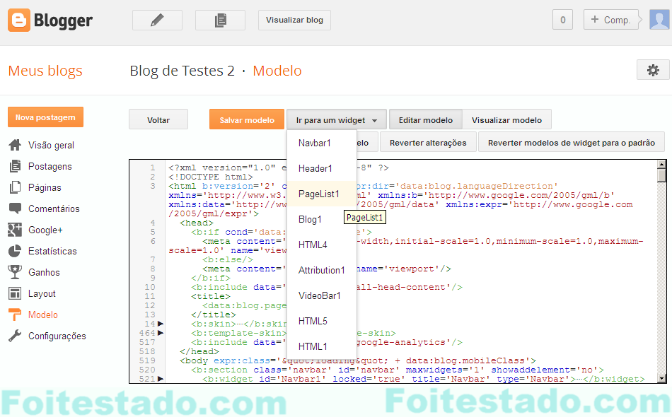 Editar HTML no blogger nova interface foi problema com Chrome