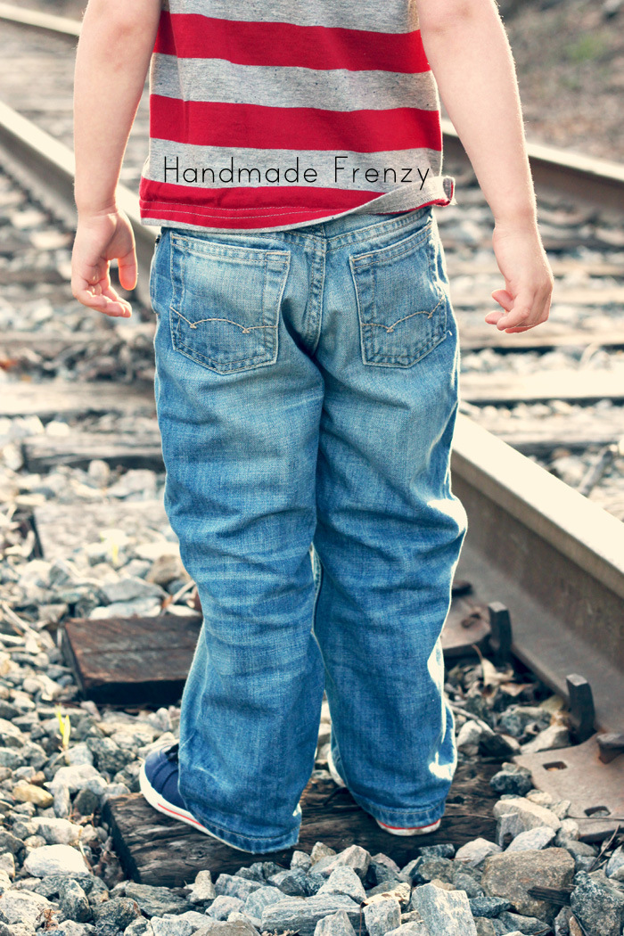Banyan Tee for boys - Pattern by Figgy's. Sewn by Handmade Frenzy
