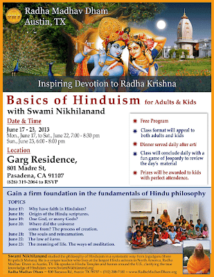 Jagadguru Kripalu Ji Maharaj's devotees studying Hinduism for kids in Pasadena, California