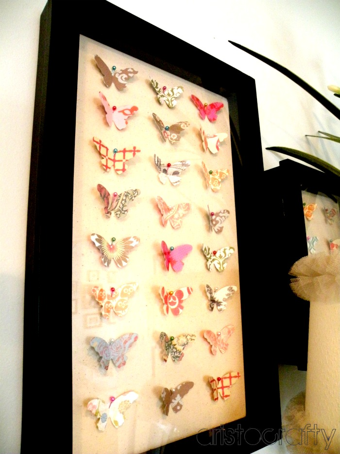 Aristocrafty: Butterfly Shadow Box