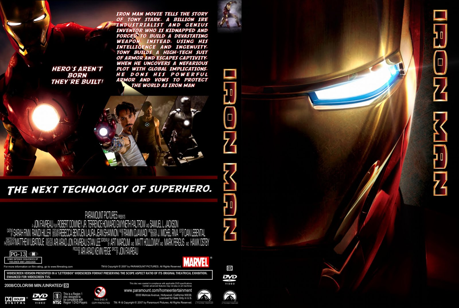 iron manIron Man Dvd Cover
