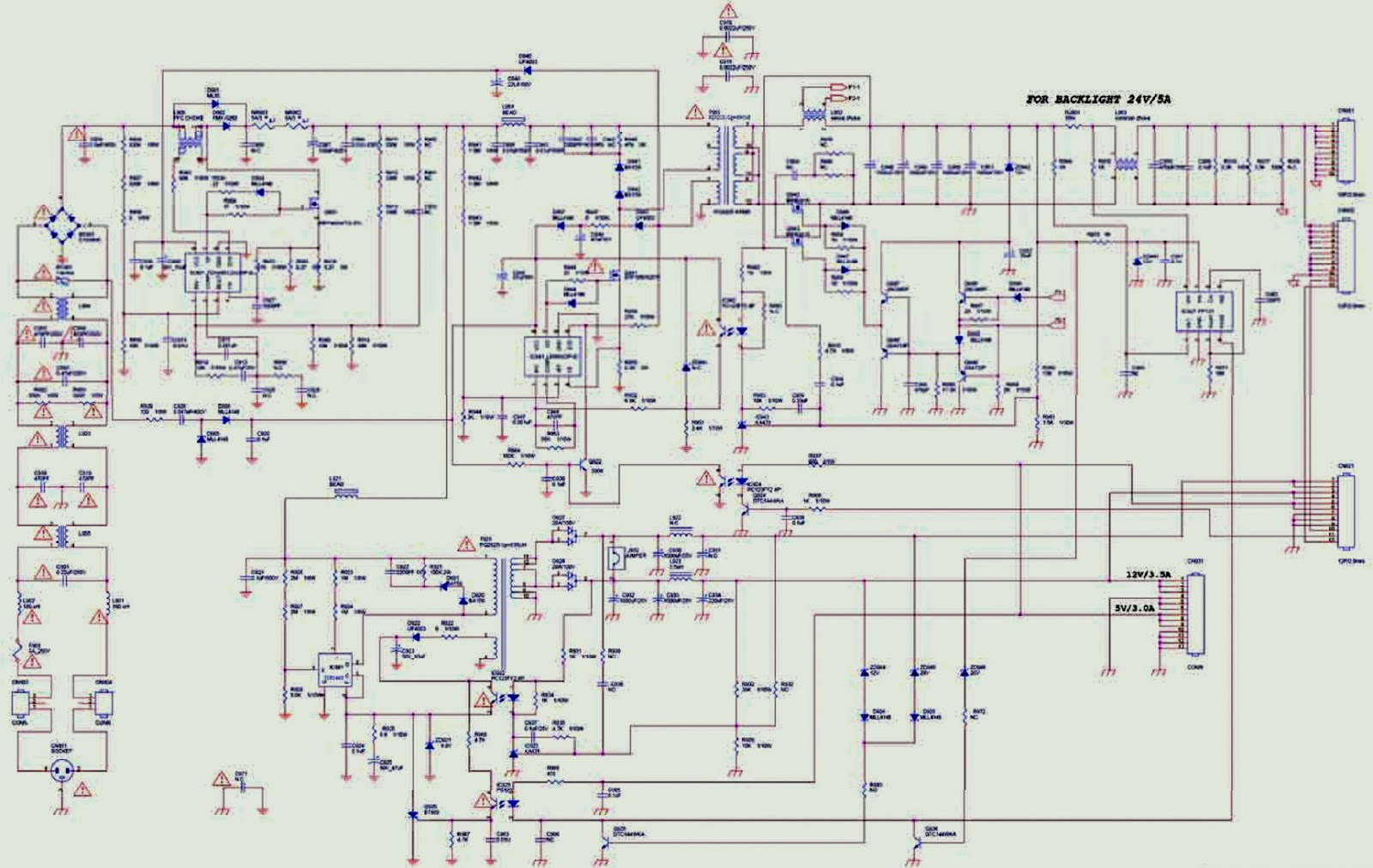Aoc L32w351 32 Lcd Tv Power Supply Smps Schematic Circuit Diagram