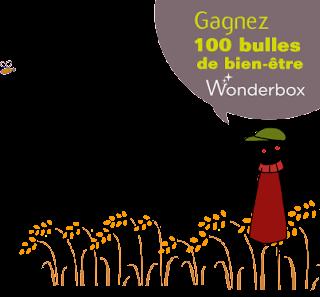 """100 coffrets Wonderbox """"Bulle de bien être"""""""