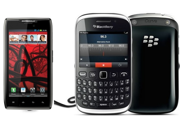 Blackberry Curve 9320 or the Motorola Droid Razr Maxx