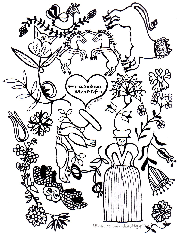 bavarian folk art coloring pages - photo#7