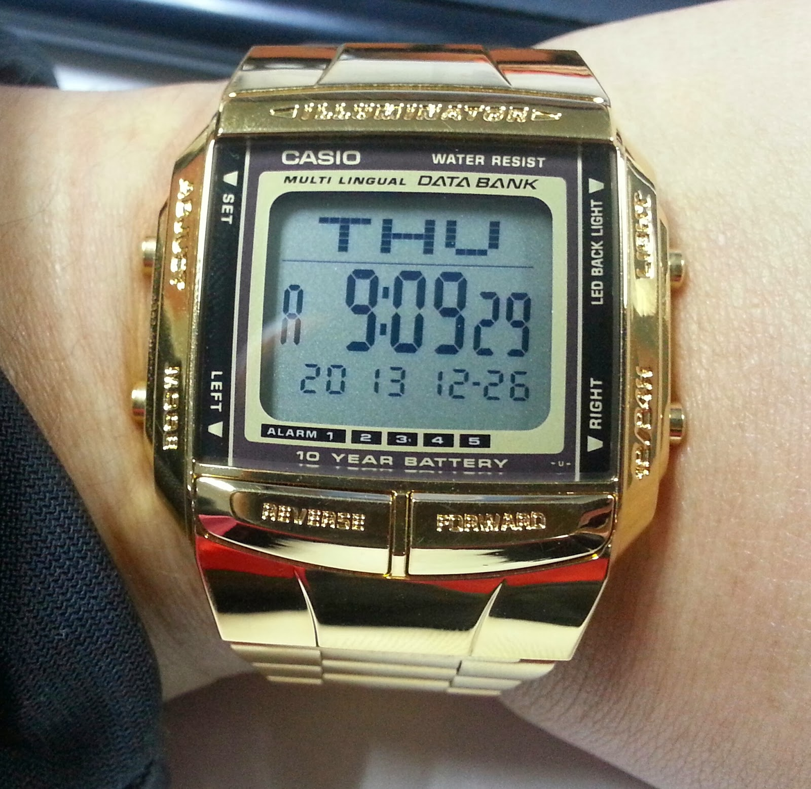 Vintage Gold Casio Free Real Tits