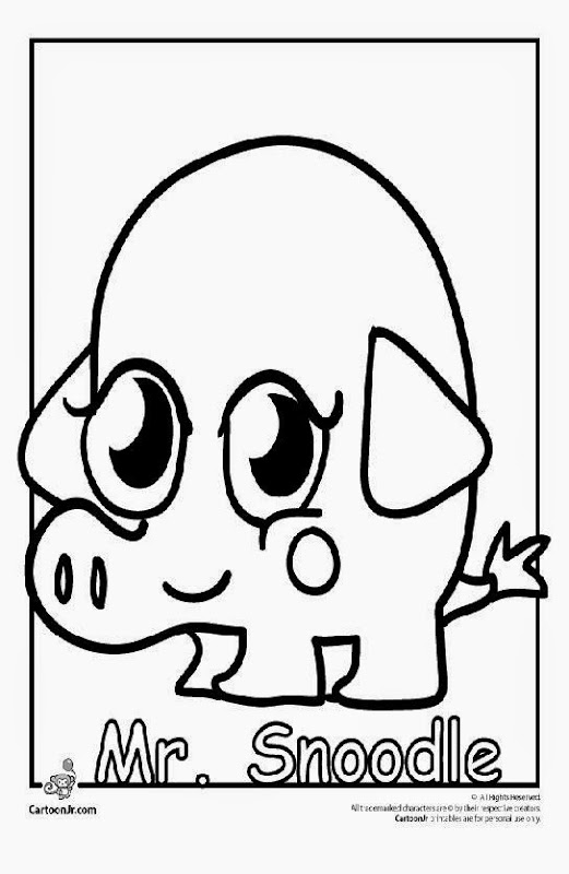moshi monsters pooky coloring page