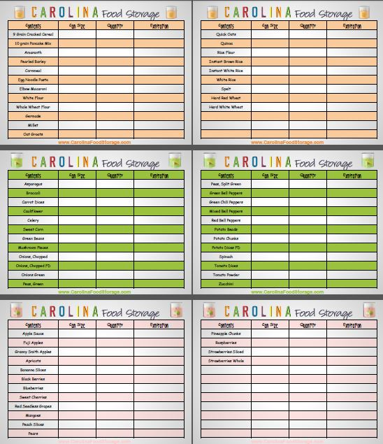 home inventory sheet