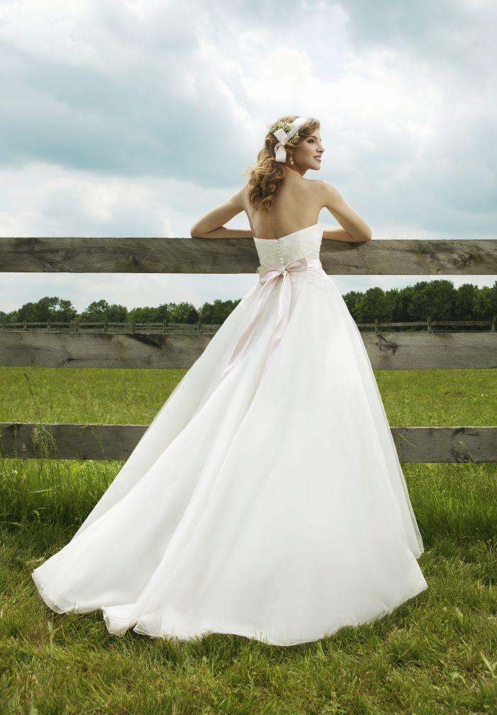 high-low simple wedding dress