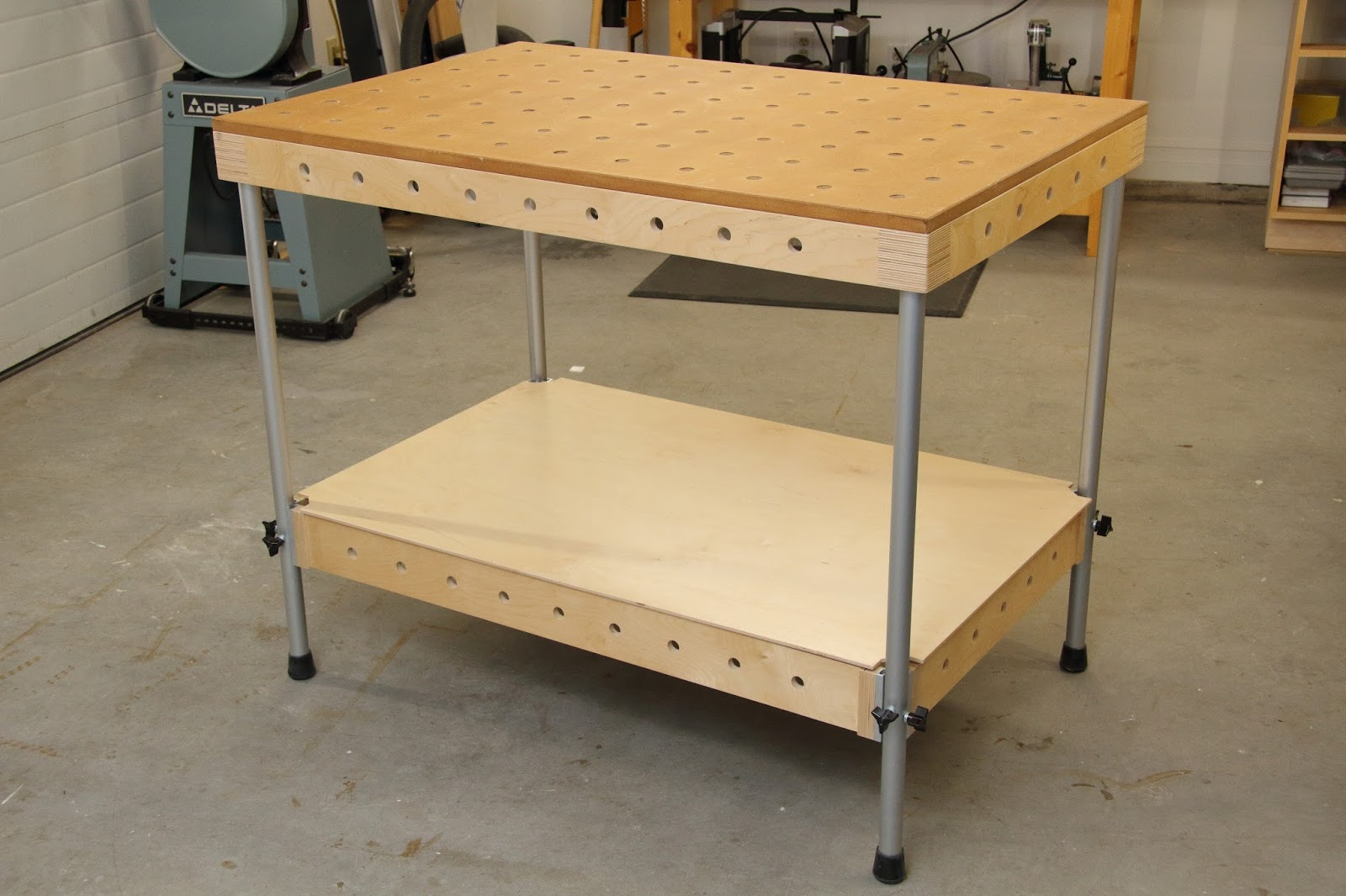 The Multi Purpose Table (MPT) is a portable work table that I have designed  and built to fill the need for a shop-built, easily portable work table  that ...