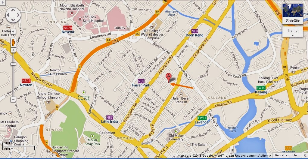 Detail Petain Road Singapore Location Map – Tourist Map Of Singapore City