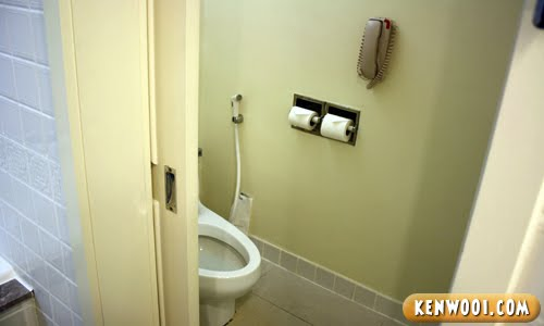 hotel toilet bowl