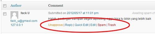 hapus komentar blog