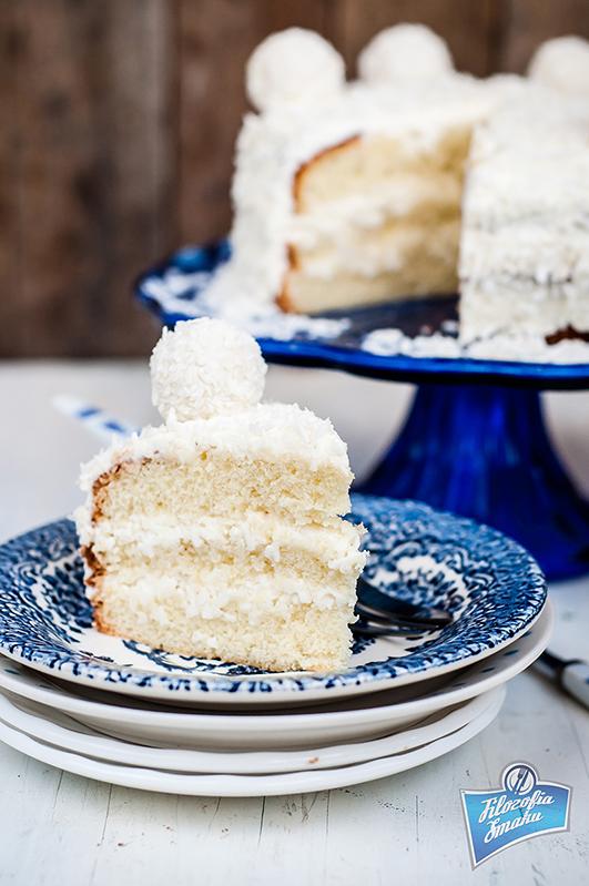 Tort z kremem kokosowym przepis