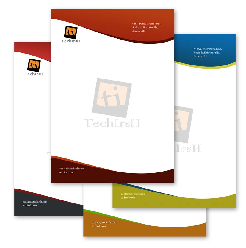 Professional Letterhead Download Free Psd File : Tech Irsh